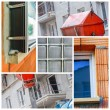 Constructions site collage of a new residential building — Stock Photo #72040001