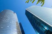 PARIS, FRANCE - MAY 10, 2015: View of Societe Generale headquarter (SG) in La Defense district, Paris. Societe Generale is a French multinational banking and financial services company. — Stock Photo
