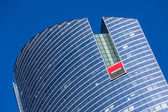PARIS, FRANCE - MAY 10, 2015: View of Societe Generale headquarter (SG) in La Defense district, Paris. Societe Generale is a French multinational banking and financial services company. — Fotografia Stock