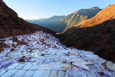 View of Salt ponds, Maras, Cuzco, Peru — Stock Photo