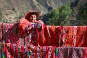 HUILLOC, SACRED VALLEY, PERU - SEPTEMBER 10: Unidentified people — Stock Photo