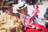 Unknown peruvian people on a carnival in Cuzco, Peru — Stock Photo