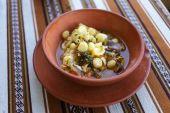 Chupe de camarones, peruvian shrimp chowder — Stock Photo