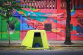 BUENOS AIRES, ARGENTINA - ABRIL 4: Colorful street art in Palerm — Stock fotografie