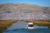 Island Uros, Lago Titicaca, Puno, Peru — Stock Photo