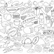 Hand drawn food vector collection — Vetor de Stock  #58170929