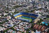 Blick aus dem Hubschrauber für Buenos Aires, Boca Juniors Stadion, — Stockfoto