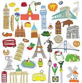 Vector symbols of many European countries — Stock Vector