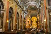 SALTA, ARGENTINA - JANUARY 18, 2015: The Cathedral Basilica and  — Stock fotografie