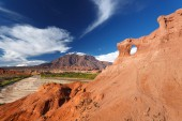 Rock formation, Quebrada de Cafayate, Salta, Argentina — Foto de Stock