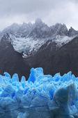 Graue Gletscher, Nationalpark Torres del Paine, Patagonien, Chile — Stockfoto