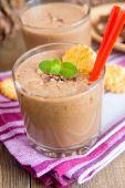 Milkshake (chokolate and banana smothie) — Foto Stock