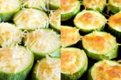 Zucchini wiht grated cheese — Stock Photo