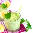 Green smothie with herbs and banana — Stock Photo #73597807