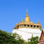 Golden mountain, an ancient pagoda at Wat Saket temple in Bangko — Stock Photo #58628887