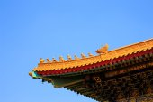 Roof of chinese traditional temple in Thailand — Stock Photo