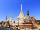 пагода ват пра шри sanphet храм, аюттхая, таиланд — Стоковое фото