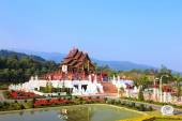 Royal pavilion in royal flora park, Chiang mai, Thailand  — Stock Photo
