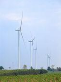 Wind turbine power generator — Stock Photo