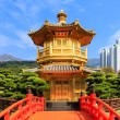 Golden pavilion of absolute perfection in Nan Lian Garden in Chi — Stock Photo #64421655