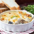 ������, ������: Mushrooms gratin with cream cheese French dish julienne