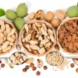 Top view of variety of nuts — Stock Photo #51900157