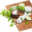 Spa composition with green apple — Stock Photo #53411741