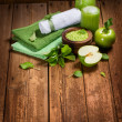 Green apple spa — Stock Photo #53413779
