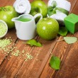 Spa composition of green apple — Stock Photo #53417887