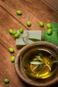 Olive oil and spa item  — Stock Photo