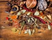 Various Spices, top view — Stock Photo