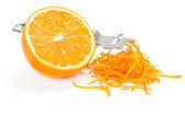 Orange zesting — Stock Photo