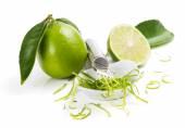 Lime zesting — Stock Photo