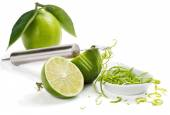 Zesting lime — Stock Photo