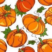 Seamless pattern of pumpkins — Stock Vector