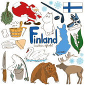 Collection of Finland icons — Vector de stock
