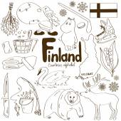 Collection of Finland icons — ストックベクタ