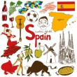 Collection of Spain icons — Stock Vector #54087331