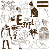 Collection of Egypt icons — Vector de stock