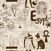 Sketch Egypt seamless pattern — Stock Vector