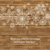 Christmas card with snowflakes — 图库矢量图片