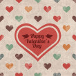 Retro Valentine's day greeting card — Vector de stock  #59582675