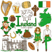 Collection of Irish icons — Stock Vector
