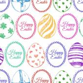 Seamless pattern of sketch Easter eggs — Vettoriale Stock