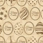 Seamless pattern of sketch Easter eggs — Stock Vector