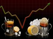 Allegory of an economic crisis  — Stock Photo