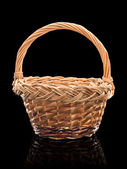 Basket wattled from rods — Stock Photo