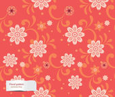 Vector colorful floral pattern (seamlessly tiling) — Stock Vector