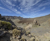 La Catedral rock in national park Las Canadas del Teide. — Stock Photo