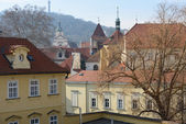 View from Charles Bridge toward Petrin Hill, Prague, Czech Repub — Stock Photo